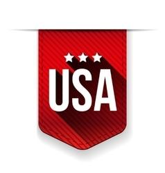 USA red ribbon vector image