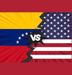 usa versus venezuela flag vector image