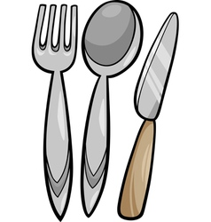 utensils cartoon vector image
