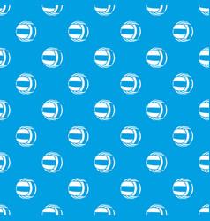 Volleyball pattern seamless blue vector