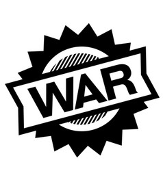 war black stamp vector image