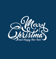 White text marry christmas and happy new year vector
