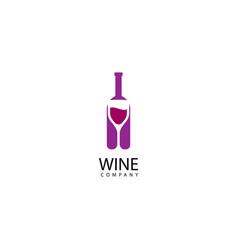 Wine logo icon vector