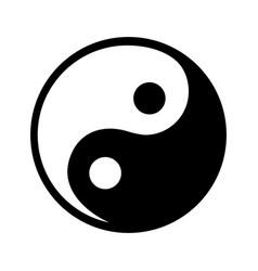 Yin yang symbol isolated icon vector