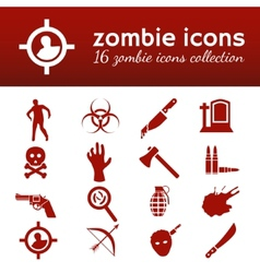 zombie icons vector image