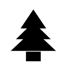black icon cute tree cartoon vector image