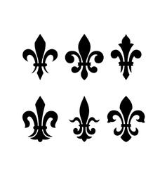 Heraldic symbol fleur de lis vector image