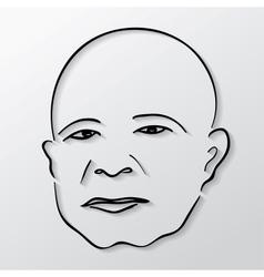 Man face vector