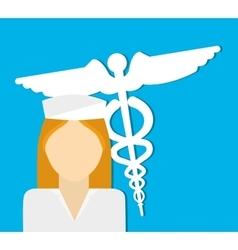 Nurse medical service vector