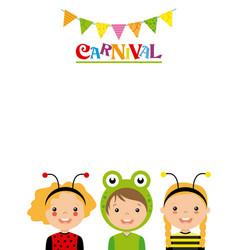 poster children in disguise vector image