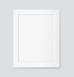 realistic white frame mock up vector image
