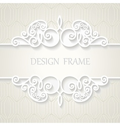 Vintage paper frame with shadow vector image vector image