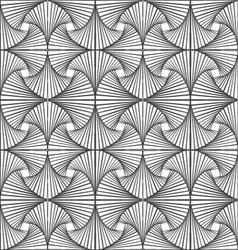 Zentangle pattern with black and white vector image vector image