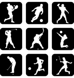ball sport icons vector image