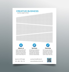 Corporate business flyer template - light design vector image vector image