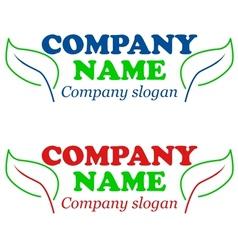 Eco logos vector image