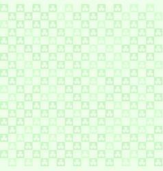 green shamrock checkered pattern seamless clover vector image vector image