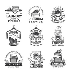 labels or logos for laundry service vector image vector image