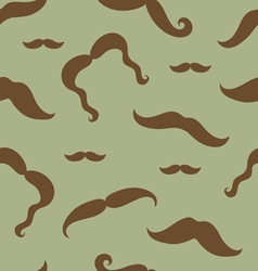 Mustaches seamless pattern vector image vector image