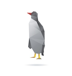 Penguin abstract isolated on a white backgrounds vector image vector image