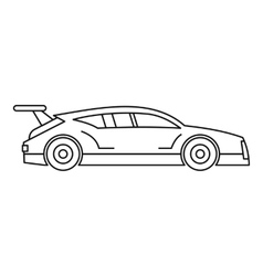 Racing car icon outline style vector image