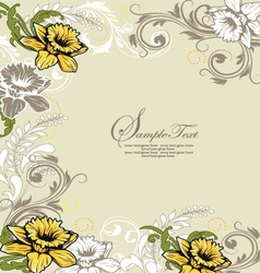 Retro floral card for events vector image vector image