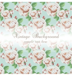 Vintage Watercolor Background with flowers vector image