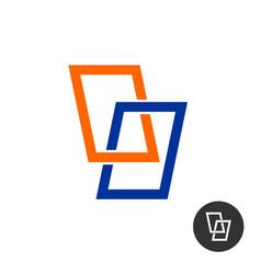 windows stylized logo vector image
