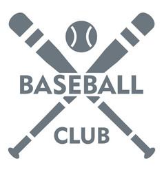 baseball club logo simple style vector image