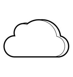 cloud cartoon padlock vector image vector image