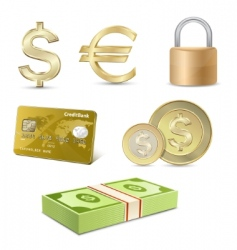 dollar and Euro signs vector image