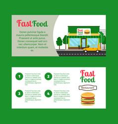 fast food restaurant horizontal flyers vector image vector image