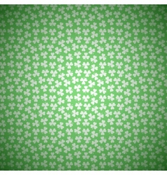 Green Floral Background with White Seamless vector image vector image