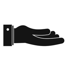 hand ask icon simple black style vector image vector image