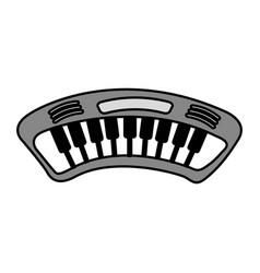 piano music instrument icon vector image vector image
