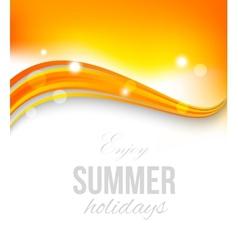 Abstract orange wavy background vector image vector image