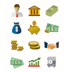 banking icons vector image