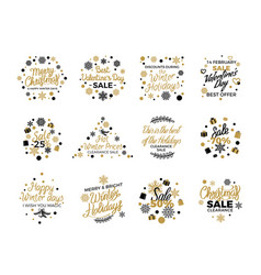 christmas and valentine s sale banner templates vector image