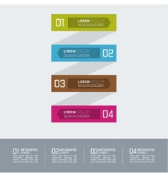 Multicolored paper stickers with numbers and signs vector image