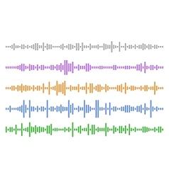 Set audio line eps 10 vector image