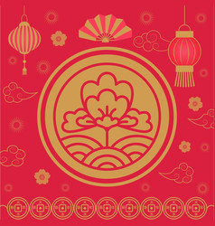 2019 chinese new year holiday celebration flora vector