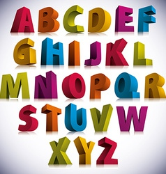 3D font big colorful letters standing vector image