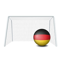 A soccer ball with the German flag vector image