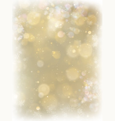 abstract christmas gold background with white vector image