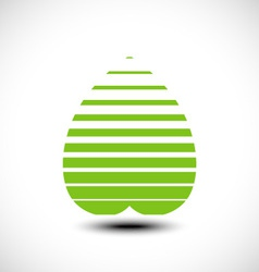 Abstract leaf icon vector image