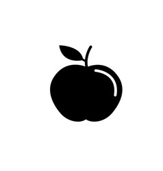Apple solid icon food and diet element healthy vector