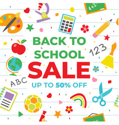Back to school sale for poster vector