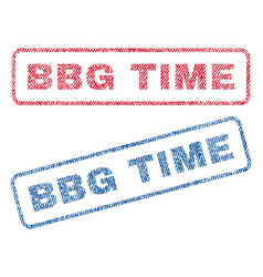bbg time textile stamps vector image