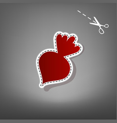 beet simple sign red icon with vector image