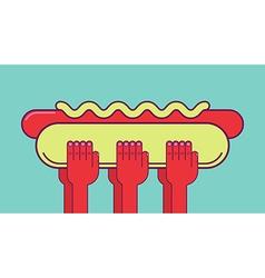 Big hotdog vector image